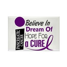 BELIEVE DREAM HOPE Pancreatic Rectangle Magnet
