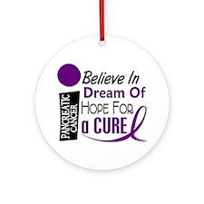 BELIEVE DREAM HOPE Pancreatic Ornament (Round)