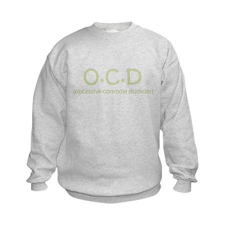 Obcessive Cornhole Disorder Kids Sweatshirt