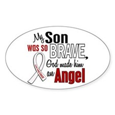 Angel 1 SON Lung Cancer Oval Decal