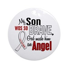 Angel 1 SON Lung Cancer Ornament (Round)