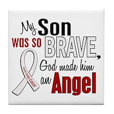 Angel 1 SON Lung Cancer Tile Coaster