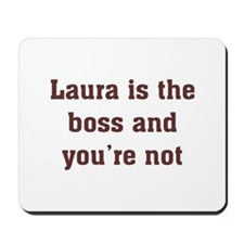 Personalized Laura Mousepad