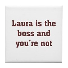 Personalized Laura Tile Coaster