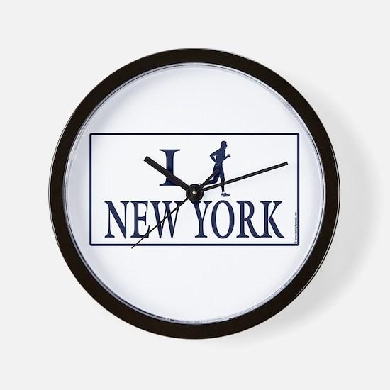 Men's I Run New York Wall Clock