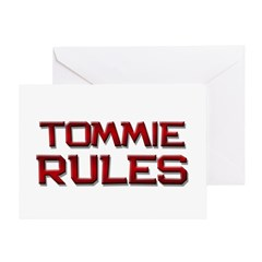 tommie rules Greeting Card