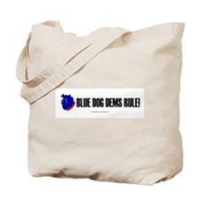 """""""Blue Dogs Rule"""" Tote Bag"""