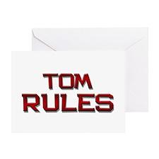 tom rules Greeting Card