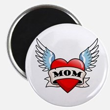 Mom Tattoo Winged Heart Magnet