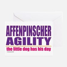 Affenpinscher Agility Greeting Cards (Pk of 20)