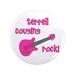 """CustomTERRELL Cousins Rock! pink guitar 3.5"""""""