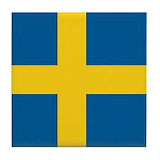 Swedish Flag Tile Coaster