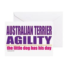 Australian Terrier Agility Greeting Card