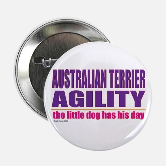 "Australian Terrier Agility 2.25"" Button"
