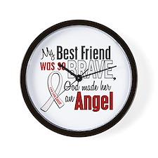 Angel 1 BEST FRIEND Lung Cancer Wall Clock