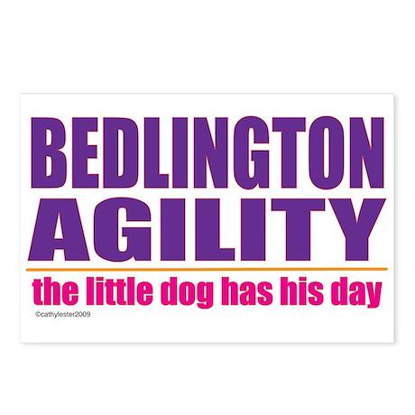 Bedlington Terrier Agility Postcards (Package of 8