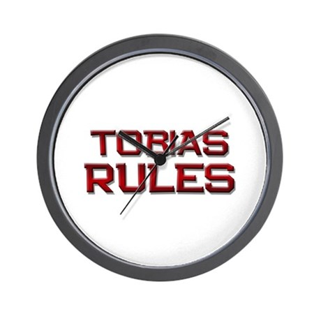 tobias rules Wall Clock
