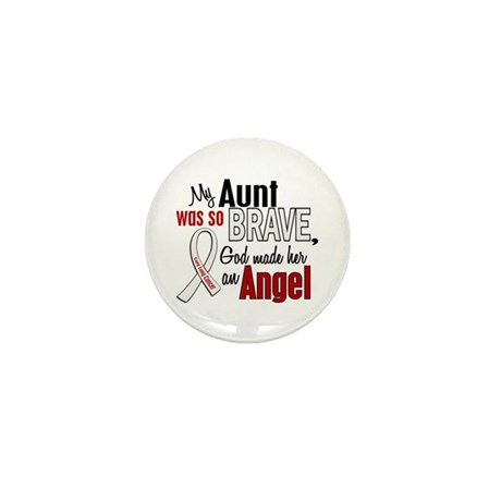 Angel 1 AUNT Lung Cancer Mini Button