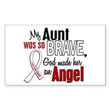 Angel 1 AUNT Lung Cancer Rectangle Decal