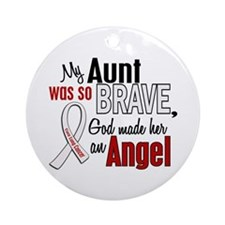Angel 1 AUNT Lung Cancer Ornament (Round)