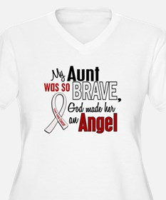 Angel 1 AUNT Lung Cancer T-Shirt