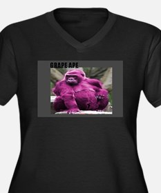 GRAPE APE # 1 Women's Plus Size V-Neck Dark T-Shir