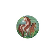 Horse and Colt gift Mini Button