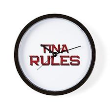 tina rules Wall Clock