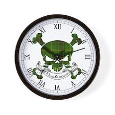 MacArthur Tartan Skull Wall Clock