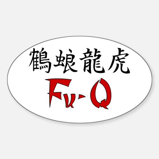 Fu-Q Simply Oval Decal