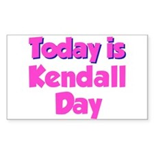 Today Is Kendall Day Rectangle Decal