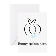 bunny spoken here Greeting Card