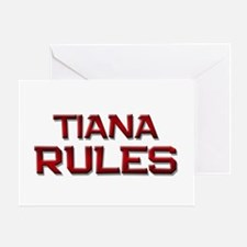 tiana rules Greeting Card