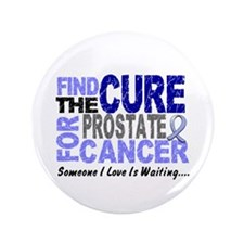 """Find The Cure Prostate Cancer 3.5"""" Button (100 pac"""