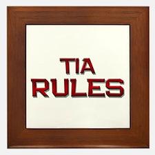 tia rules Framed Tile