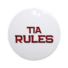 tia rules Ornament (Round)