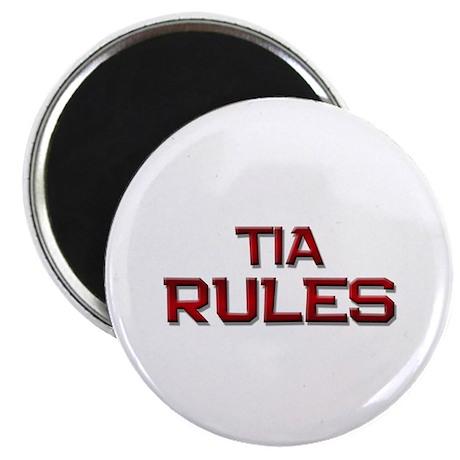 tia rules Magnet