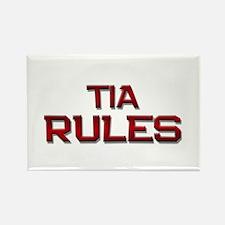 tia rules Rectangle Magnet