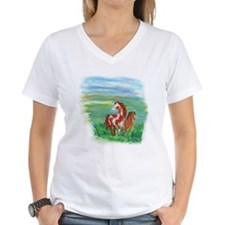 Horse And Colt Women's V-Neck T-Shirt