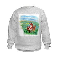 Horse And Colt Kids Sweatshirt