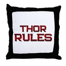 thor rules Throw Pillow