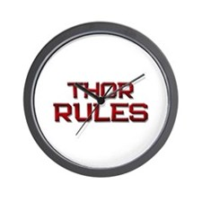 thor rules Wall Clock