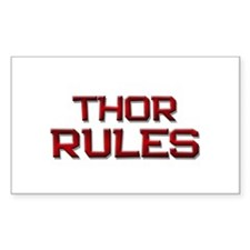 thor rules Rectangle Decal