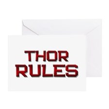 thor rules Greeting Card
