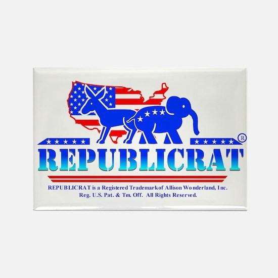 Republicrat Logowear Rectangle Magnet