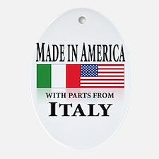Italian pride Oval Ornament