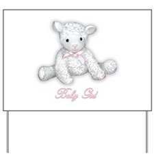 Baby Girl Lamb Yard Sign