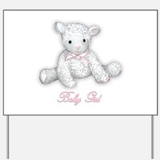 Baby Girl Lamb Yard Sign
