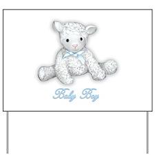 Baby Boy Lamb Yard Sign
