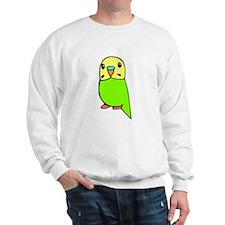 Cute Green Budgie Sweatshirt